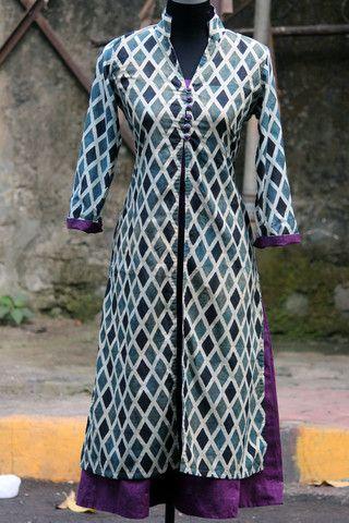 dress - ajrakh barfi & purple – maati crafts