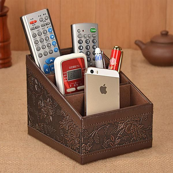 Remote Control Storage Box Classic Office Desk Desktop Organizer