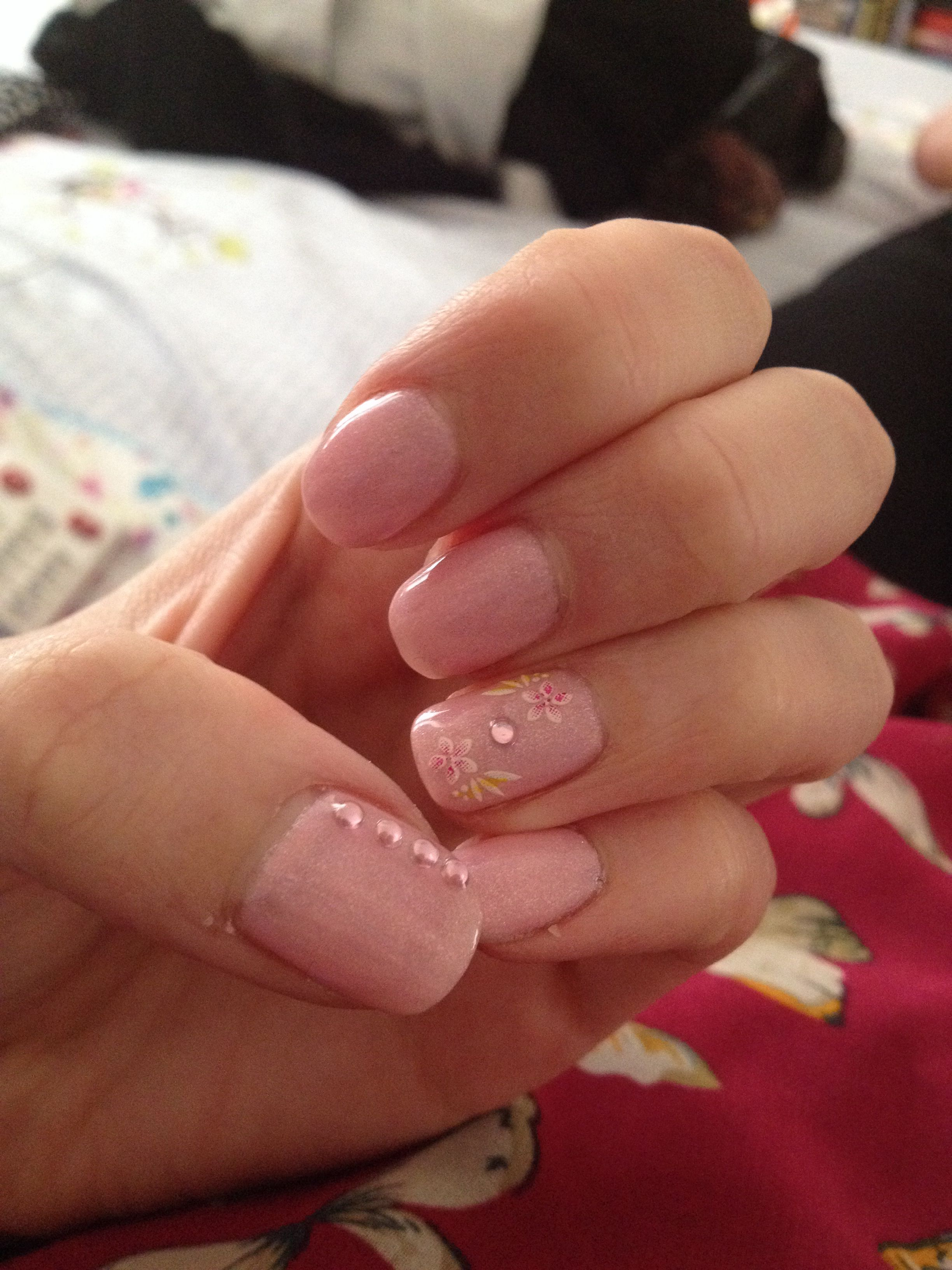 Blasé beauty with gems and nail stickers @Red Carpet Manicure UK ...