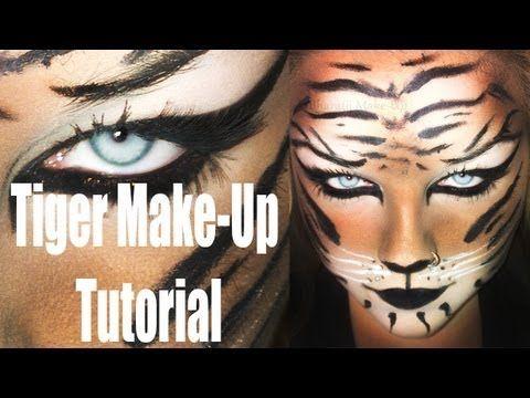 simple karneval halloween tiger make up tutorial hd deutsch halloween inspo pinterest. Black Bedroom Furniture Sets. Home Design Ideas