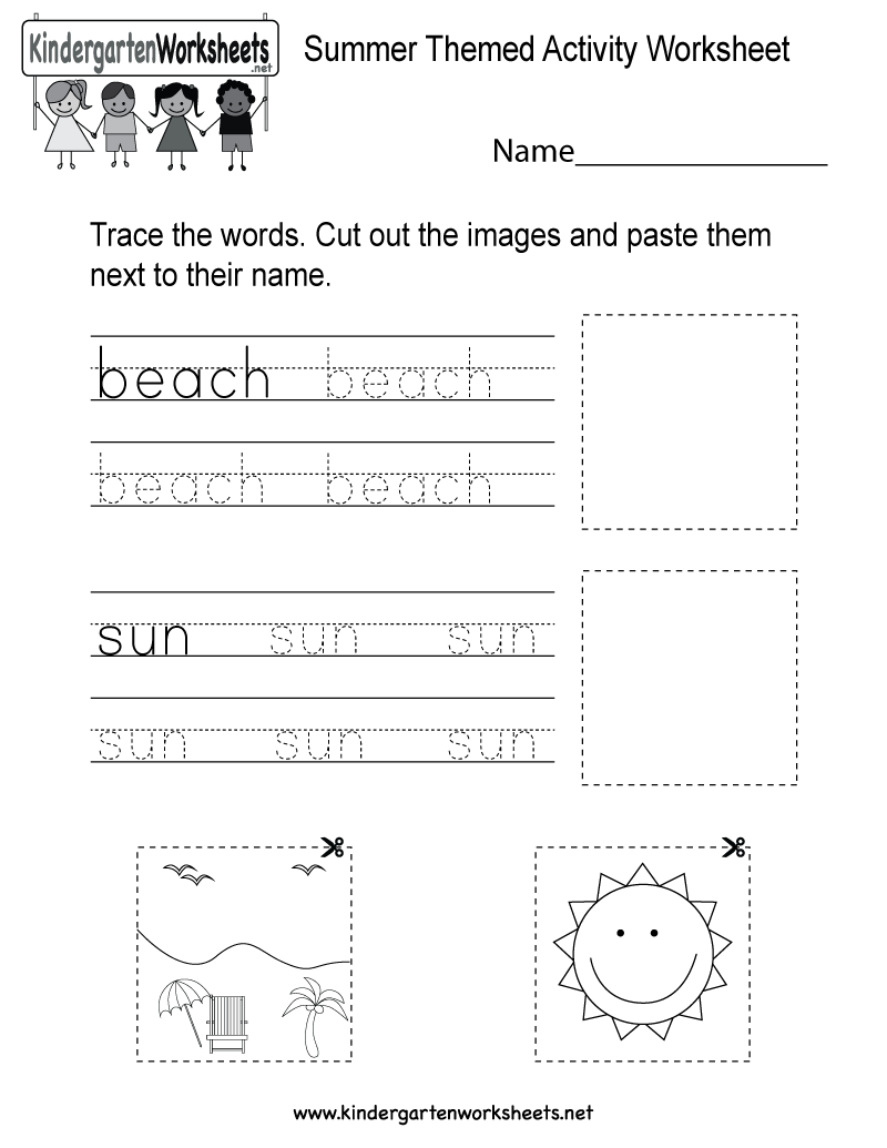 This Is A Fun Summer Vocabulary Worksheet For Kindergartners Kids