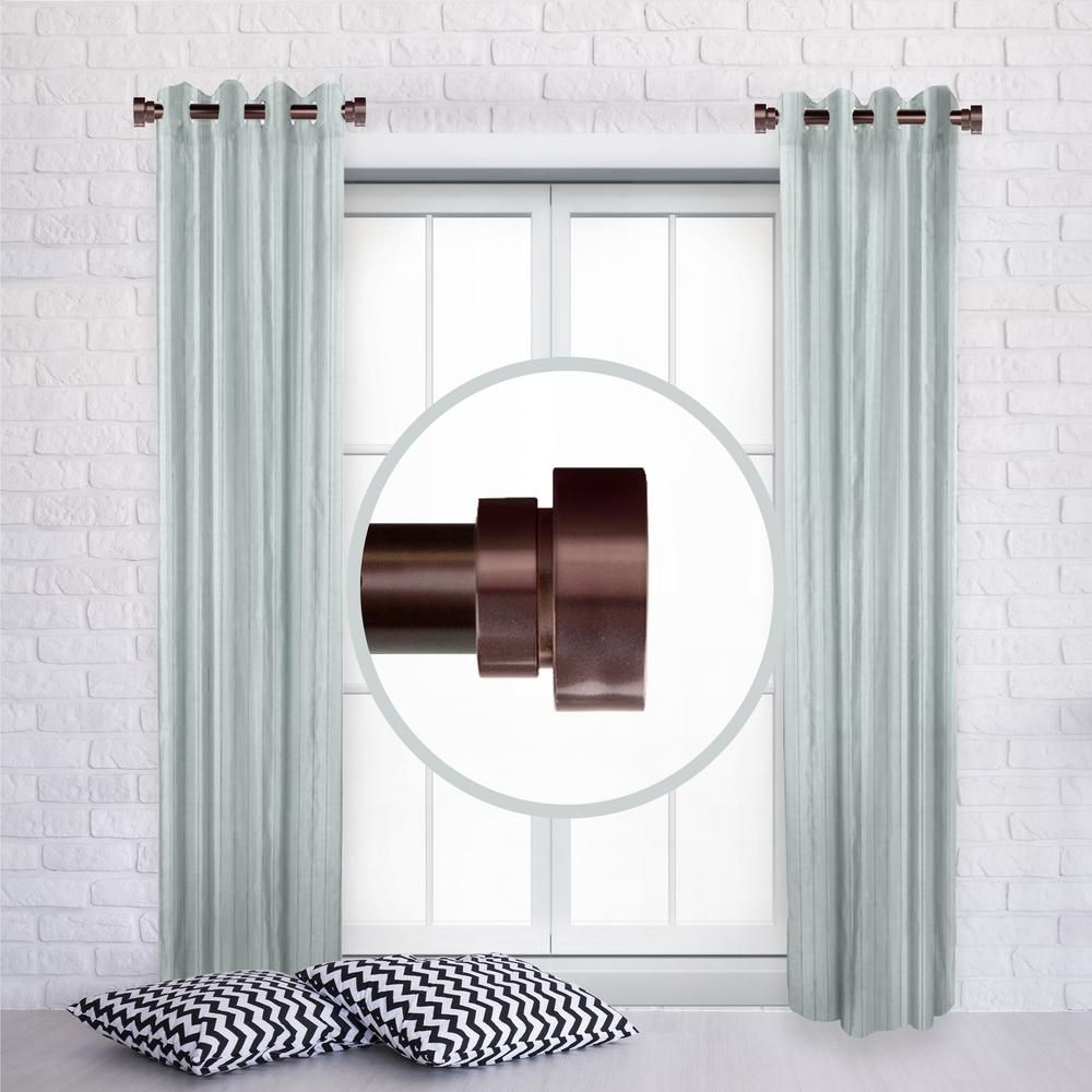 Rod Desyne 1 Inch Side Window Curtain Rod Adjustable 12 20 Inch Long Set Of 2 Bronze Side100 9 The Home Depot In 2020 Curtain Rods Decorative Curtain Rods Window Curtain Rods