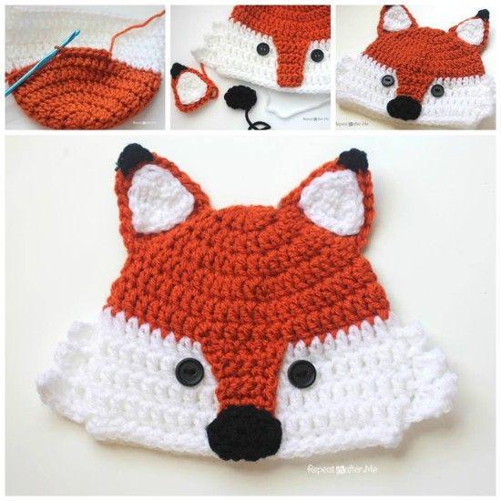 Free Crochet Baby Animal Hats Pinterest Top Pins | Häkelmützen, Baby ...