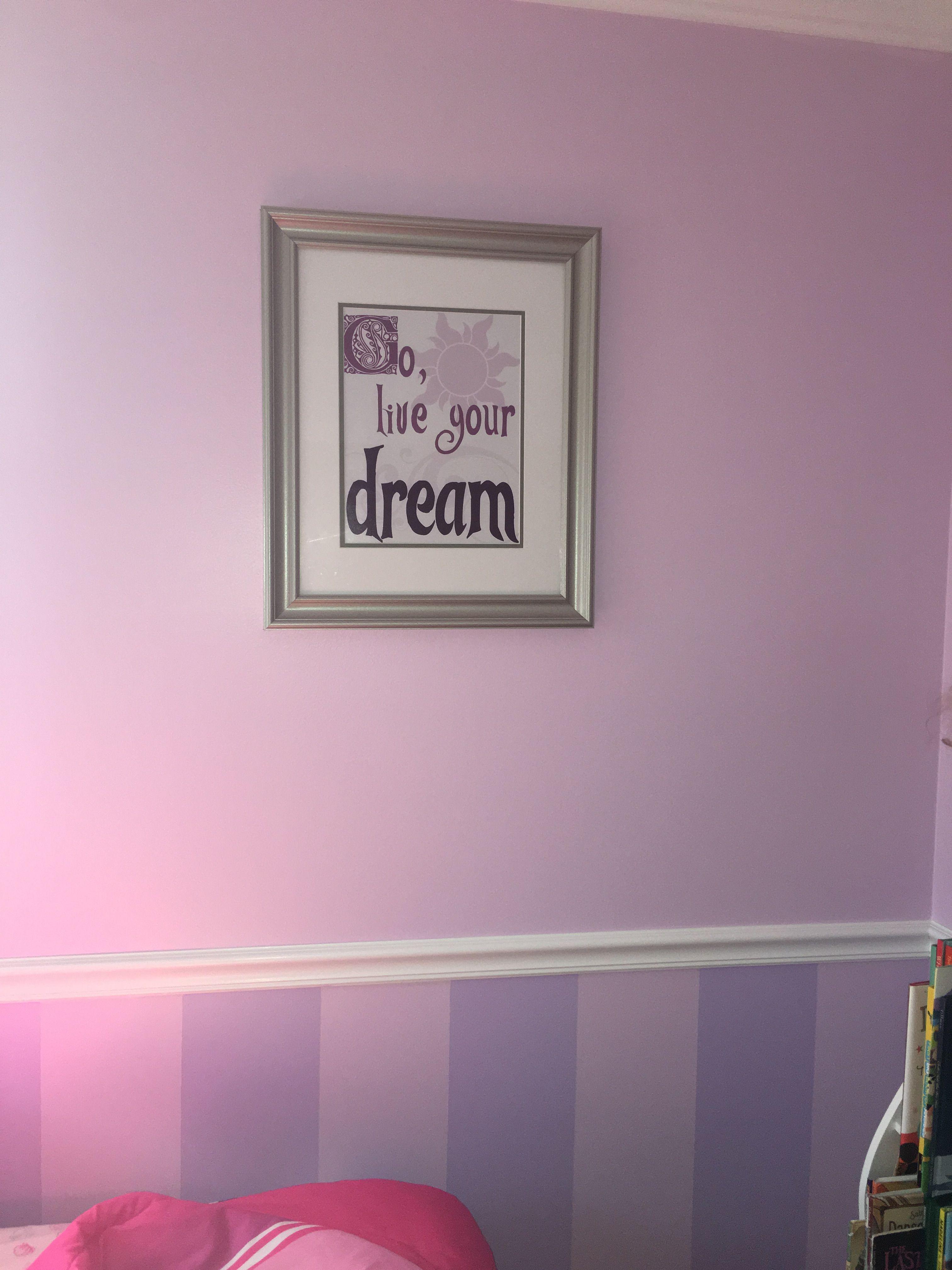 Disney Tangled Rapunzel bedroom wall art quote
