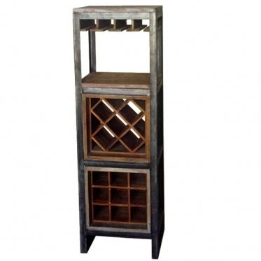 Meuble bar vin casiers petit meuble et bois massif - Meuble pour ranger les bouteilles ...