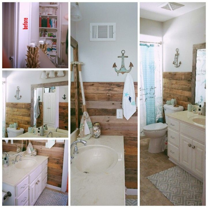 photos of remodeled bathrooms%0A Bathroom remodel  Bathroom half pallet wall  paint  ceiling  trim  large  framed
