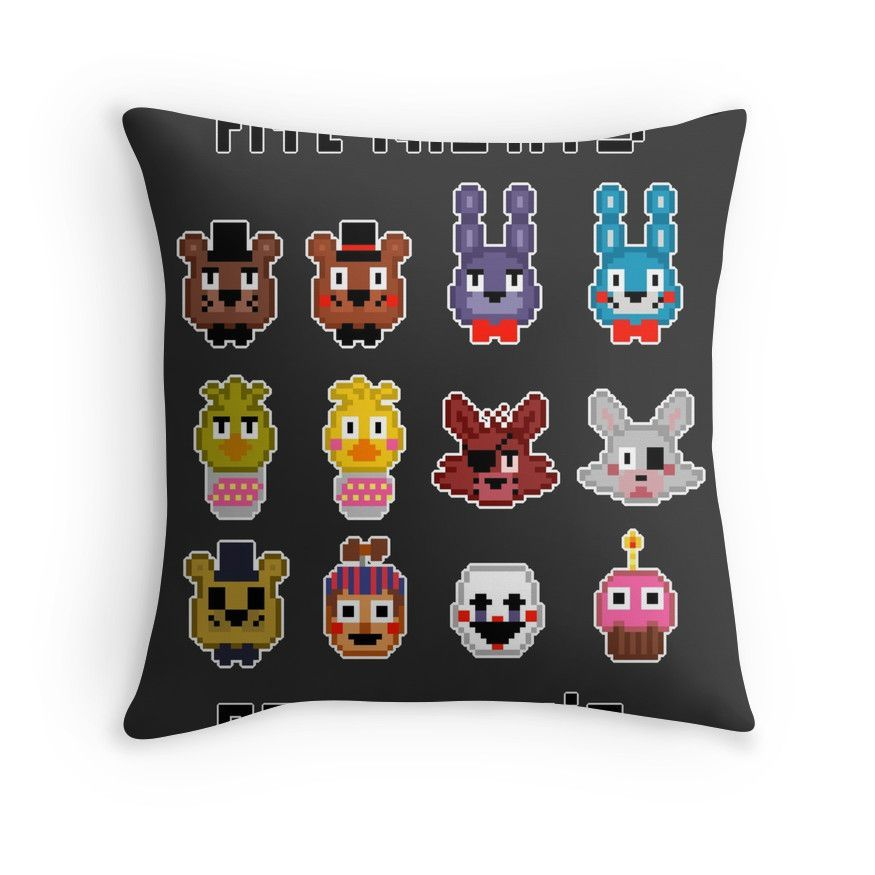 Five Nights At Freddy's. Throw Pillows