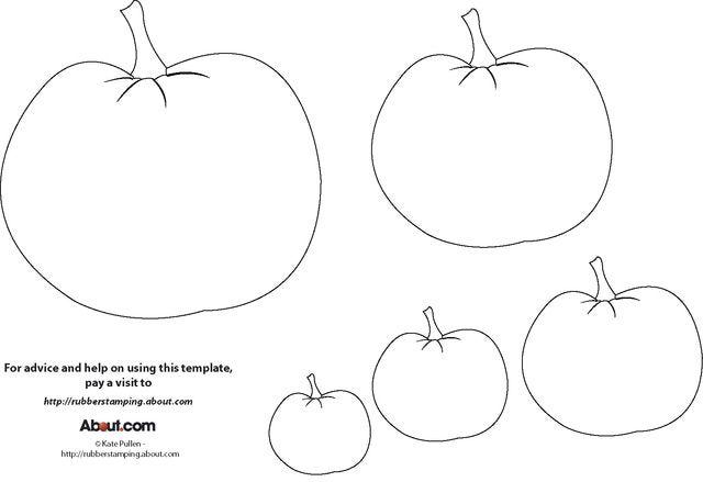Pumpkin Template for Halloween Craft Projects: Free Pumpkin Template