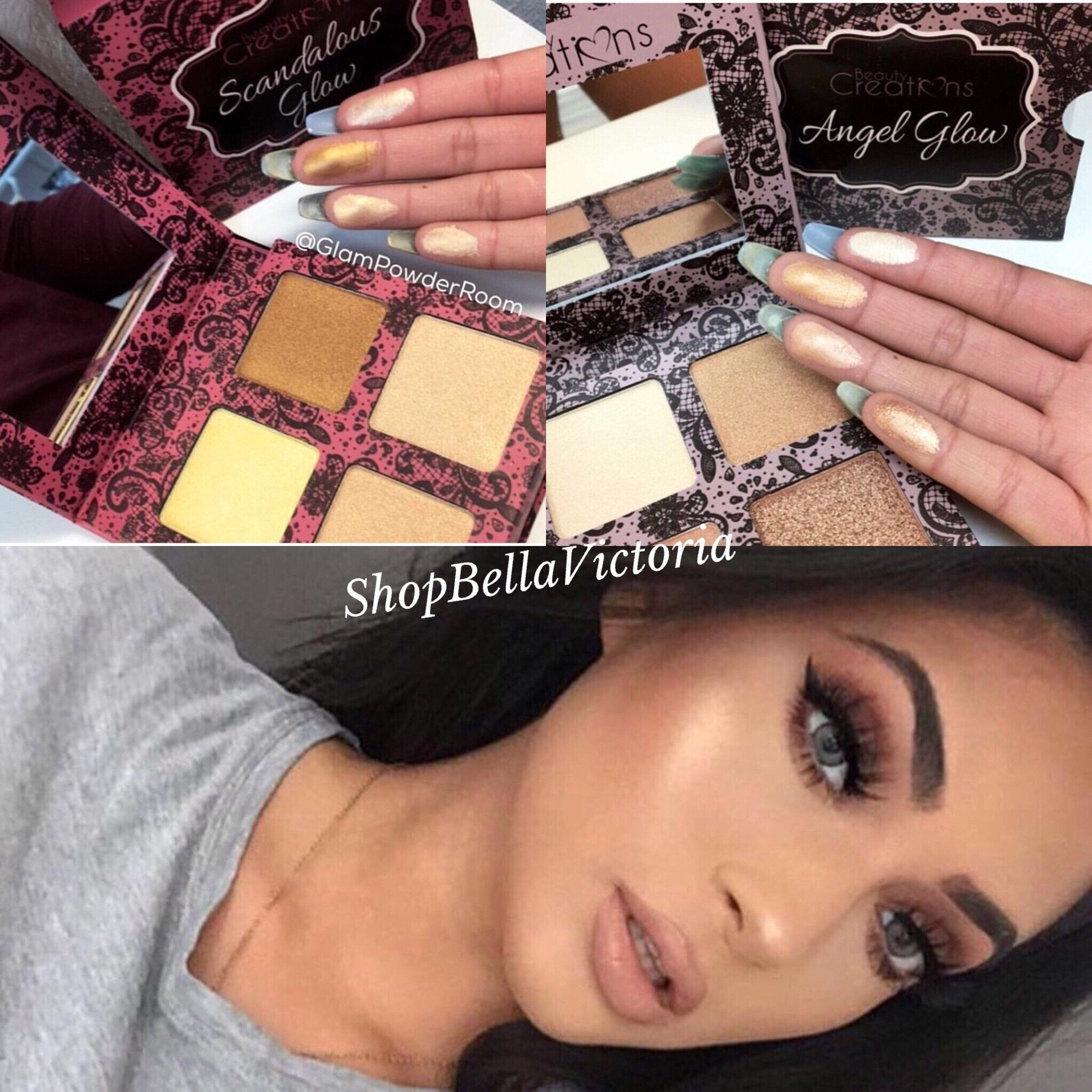 Scandalous Glow Highlight Palette Beauty Creations And Cosmetics Angel