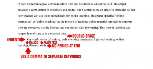 Abstract Page Sample Apa Outline