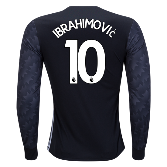 separation shoes 24bb1 4a8b4 17/18 adidas Zlatan Ibrahimovic #10 Manchester United Long ...