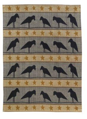 Crows In A Row Jacquard Dishtowel
