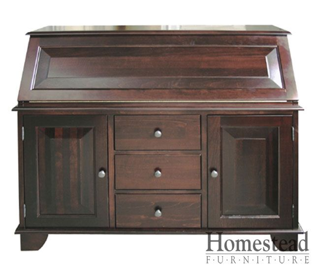Amish Computer Secretary Desk Armoire Modesto Solid Wood: Graham Secretary Desk By Homestead Furniture Made In Amish