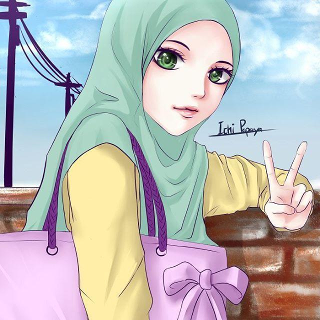 Ana Muslimah Cute Wallpaper Gambar Kartun Wanita Muslimah 2017 Aurora Sleeping