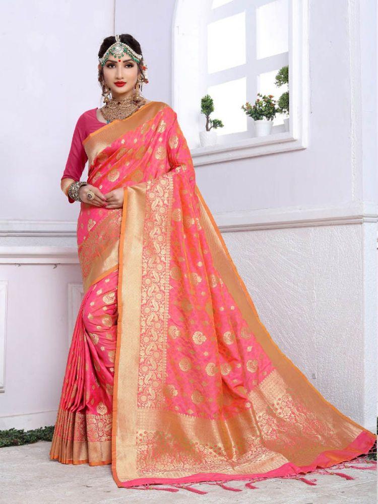 Bollywood  Saree Blouse Ethnic Party Wear Silk Designer Sari Indian Ethnic Dress