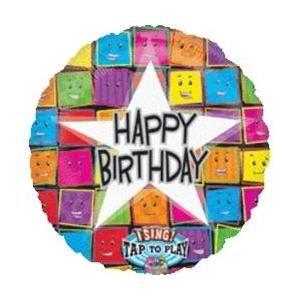 Mayflower Balloons 15268 28 Inch Happy Birthday Faces Sing A Tune Happy Birthday Happy Birthday Balloons Birthday Star