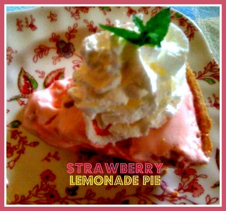 Summer dessert - strawberry lemonade pie