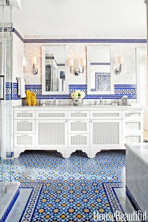 House Beautiful Featuring An Intricately Moroccan Tiled Bathroom Tiling Www Mycraftwork