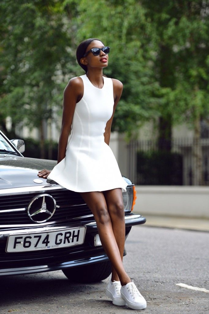 tennis shoes with white dress   White