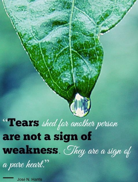 Tears Shed For Others Is Not A Sign Of Weakness They Are Sign Of A Pure Heart