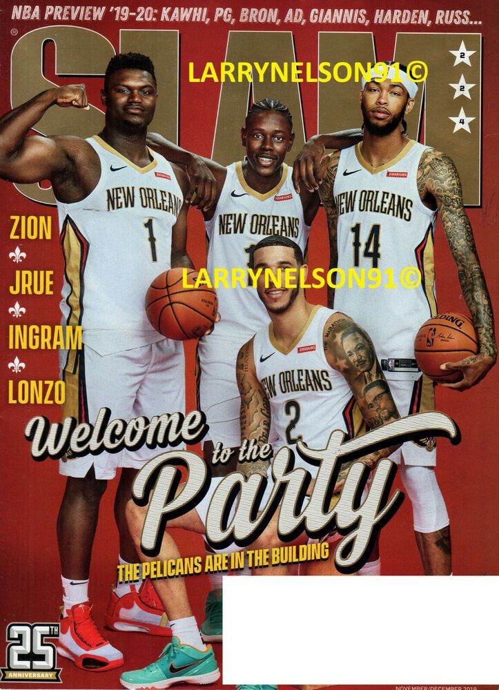 SLAM MAGAZINE NOVEMBER DECEMBER 2019 ZION WILLIAMSON KAWHI