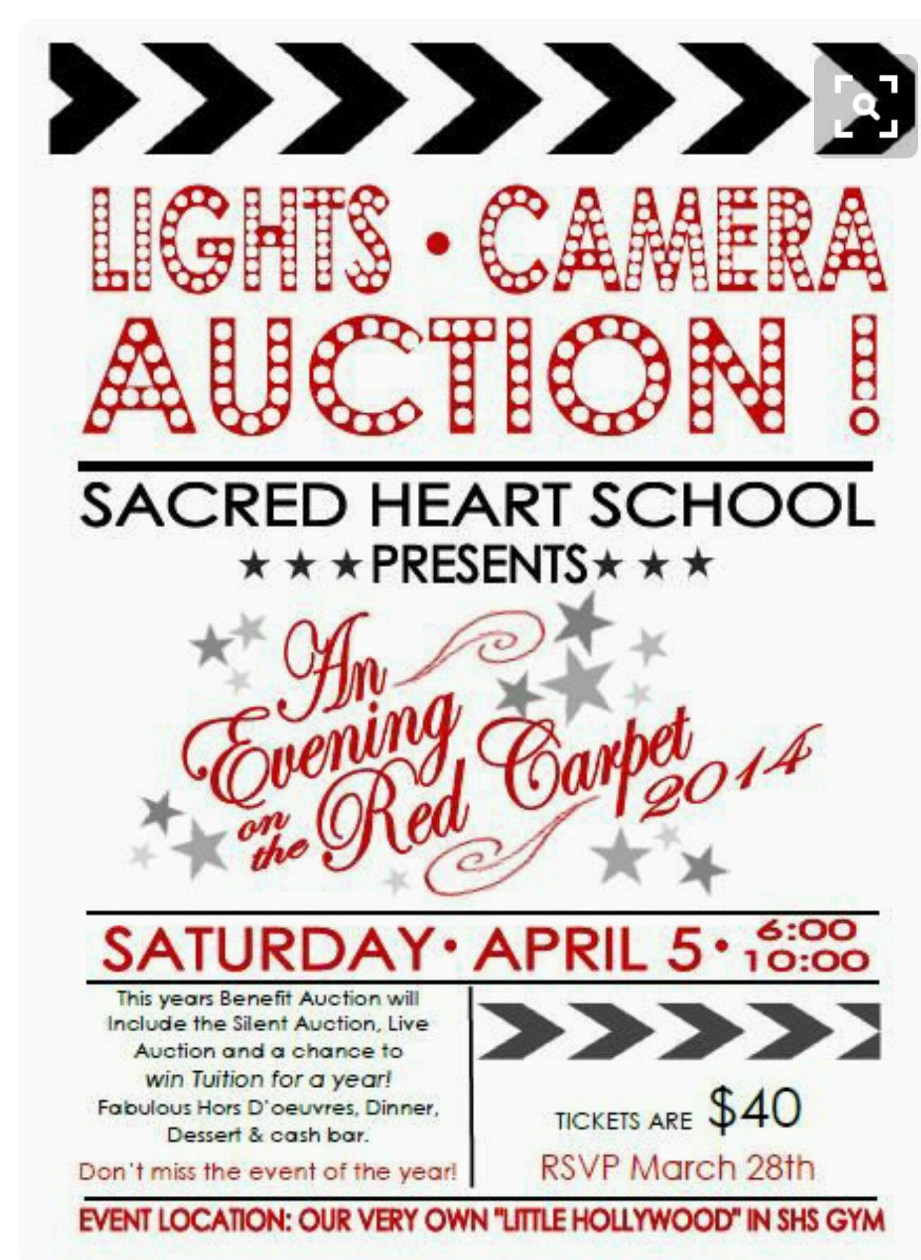 ec8467c4ff51 Lights, Camera, Auction. So clever | PTSO | Silent auction, Gala ...