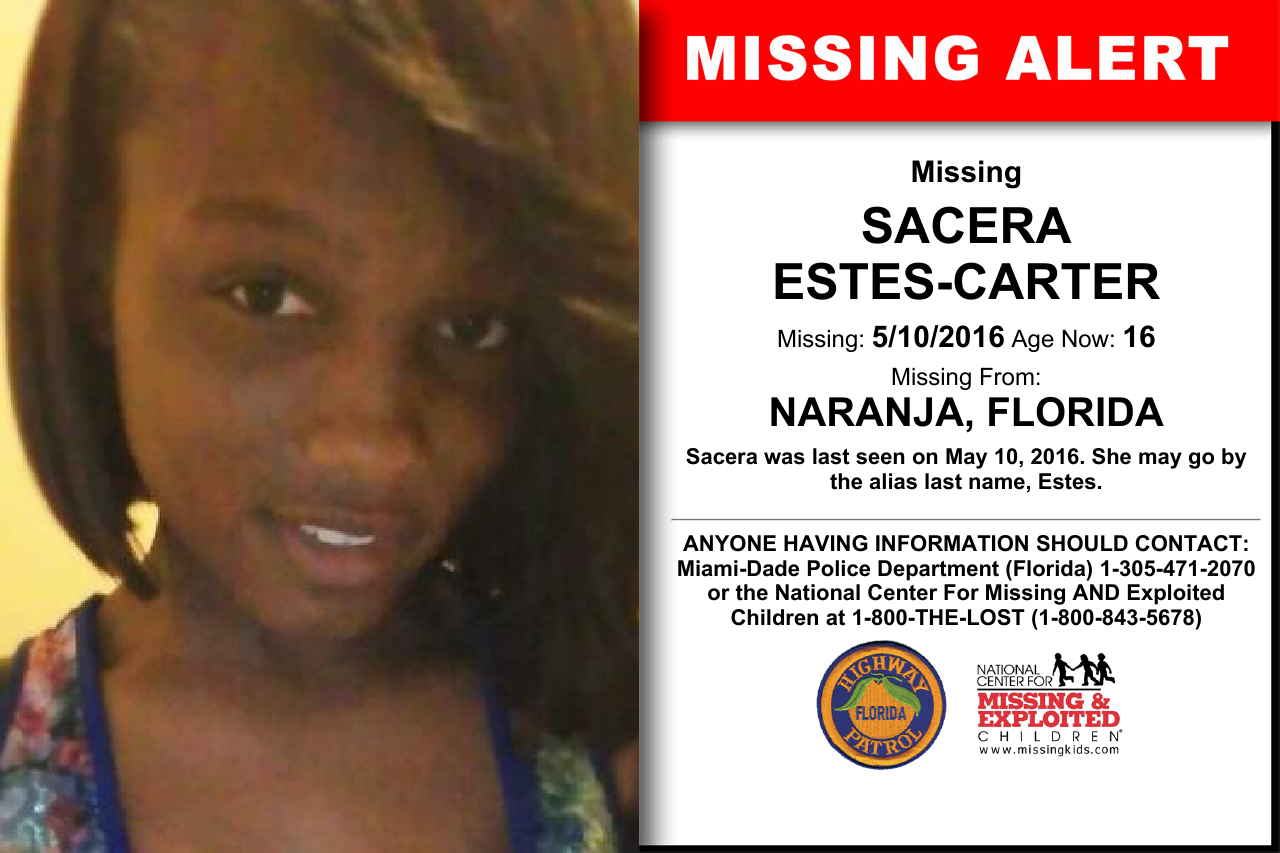 SACERA ESTES-CARTER, Age Now: 16, Missing: 05/10/2016. Missing From ...