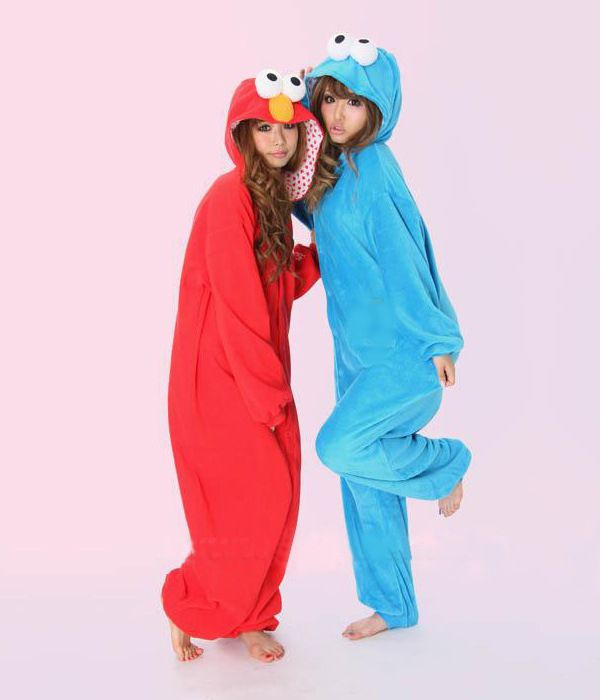 Aliexpress.com   Buy Sesame Street Elmo Cookie Monster Onesie Hooded Animal  Pajamas adults Cosplay Anime Costumes Kigurumi One Piece Fleece Pajama from  ... 06d415786