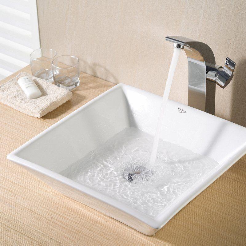 ceramic square vessel bathroom sink squarevesselsinkvanity rh pinterest com