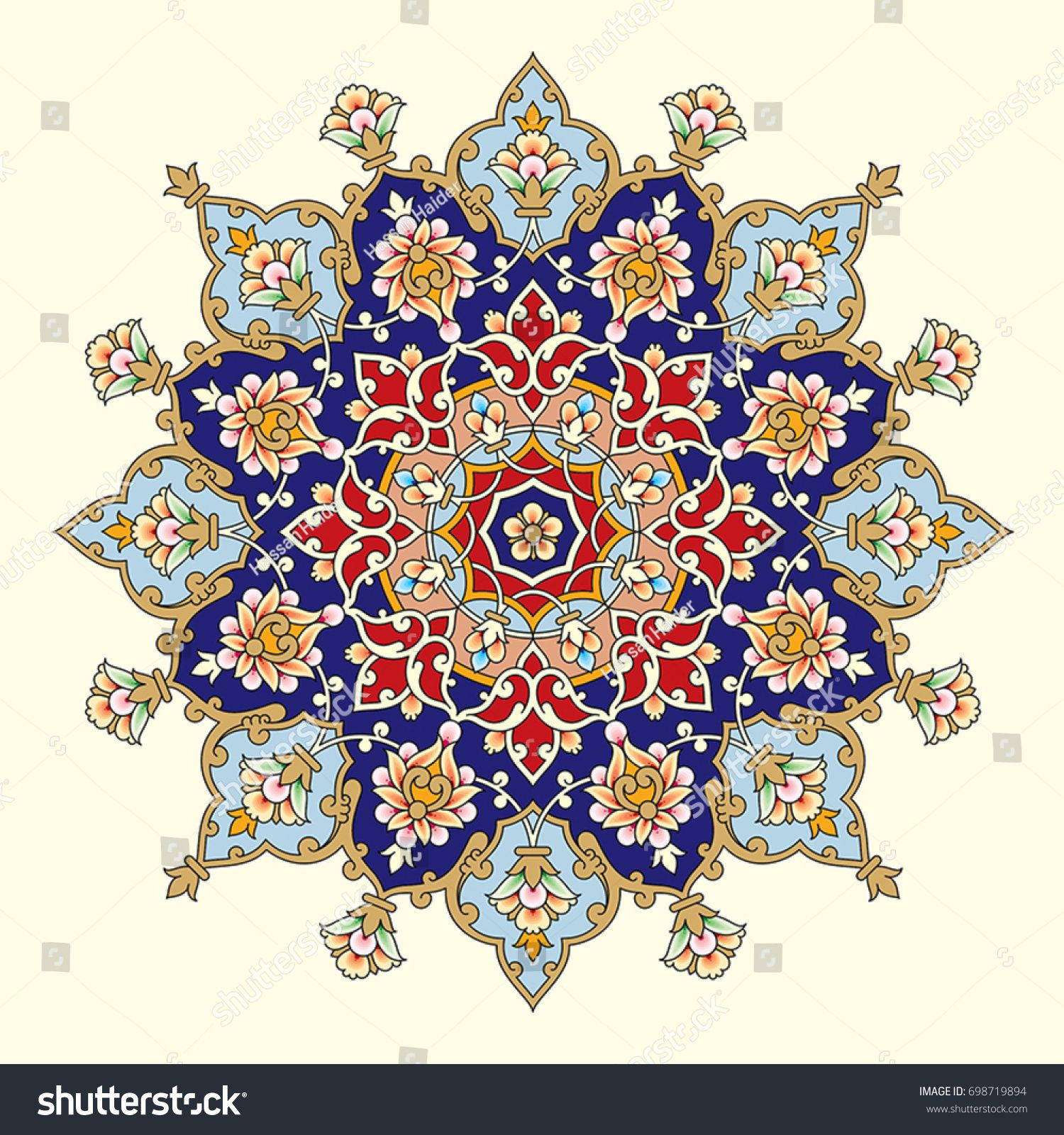 Arabic Floral Frame Traditional Islamic Design Mosque Decoration Element Elegance Background With Islamic Art Pattern Islamic Design Pattern Islamic Design