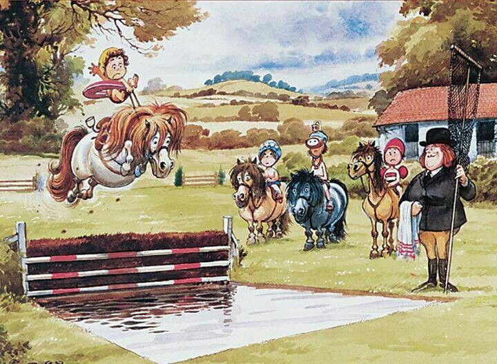 /'Waterjump/' Thelwell Blank Card