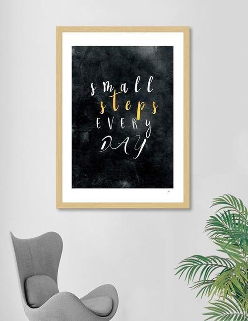 Small Steps Every Day Motivation Quotes Frame Framed Wall Art Custom Framing Frame