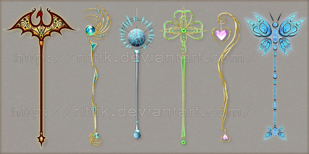 Staff designs 8 by rittik designs on deviantart fantasy pinterest weapons design and drawings - Coole wanddesigns ...