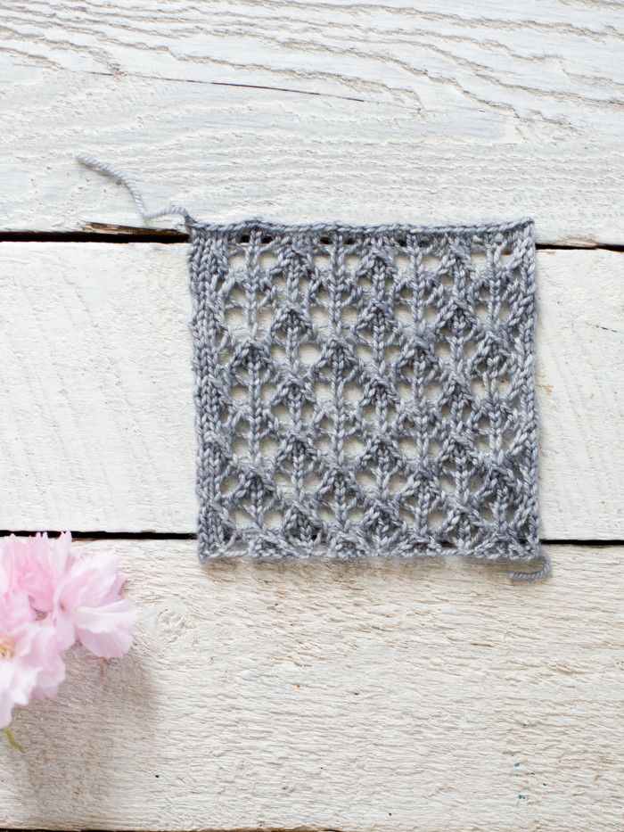 How To Make An Easy Lace Knit Shawl Pattern Lace Knitting Knit