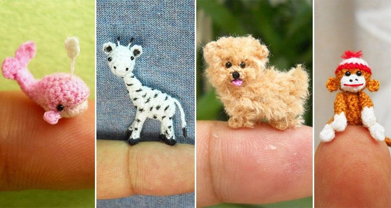 Artist Su Ami Creates The Tiniest And Cutest Crocheted Animals You