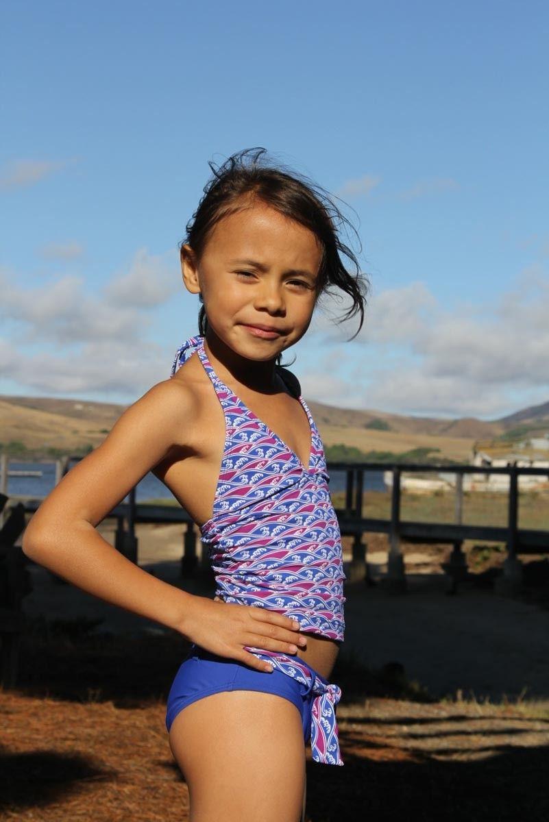 Kids Tankini Set matching belted bottom and tankini top ...