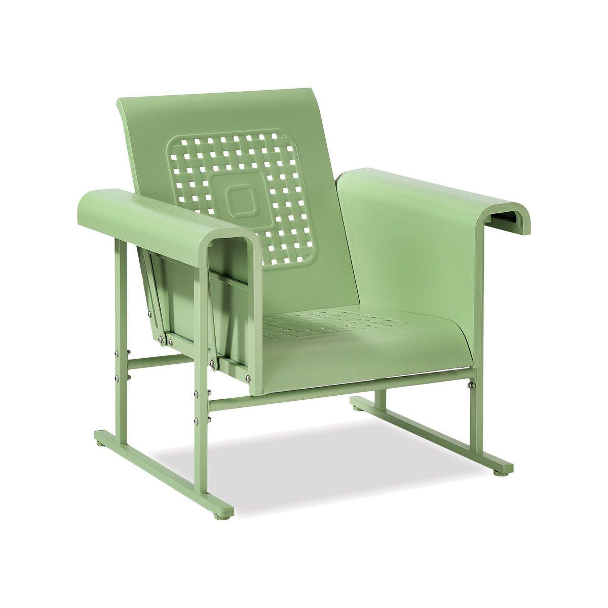 retro metal outdoor furniturefairlane glider chair in green 265