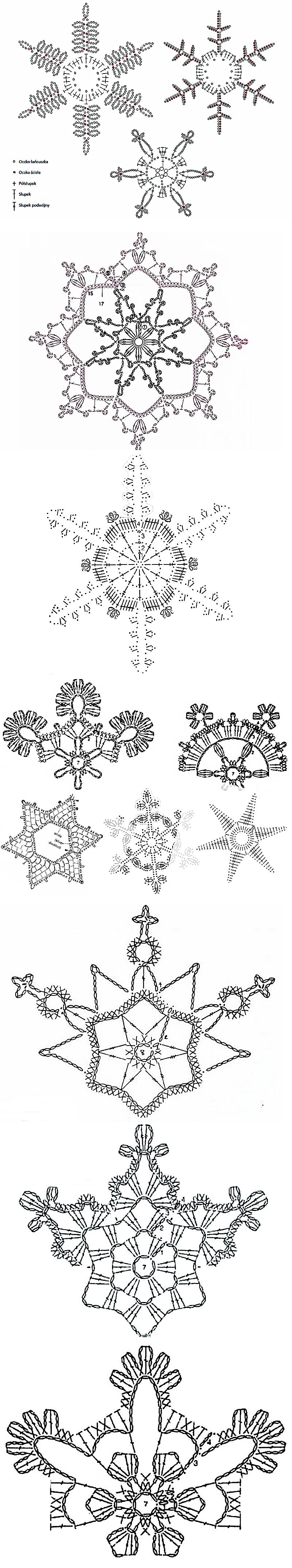 snowflakes crochet 72   GANCHILLO CIRCULAR Y MAS   Pinterest ...