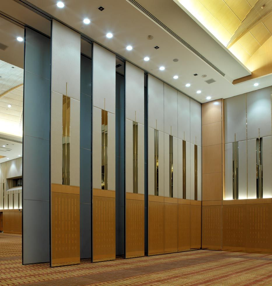 Interior Gorgeous Partition Wall As Room Divider Combine With Brown Floor Also Nice Ceiling: interior glass partition systems