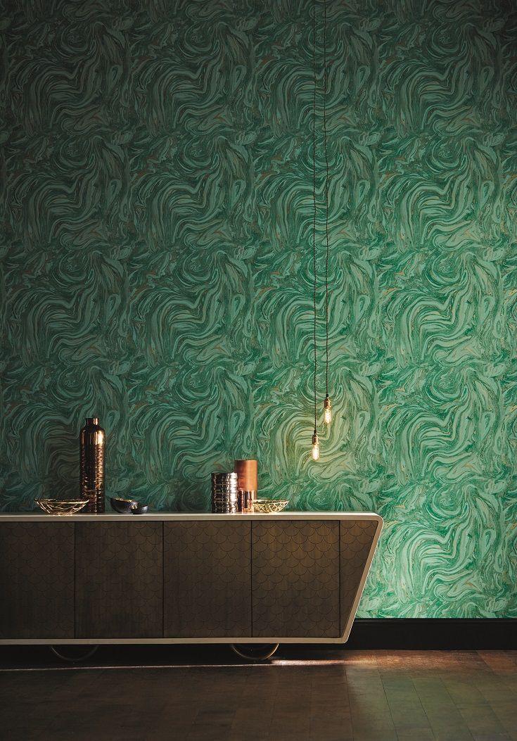 зеленая с золотом краска для стен фото себе плетёт