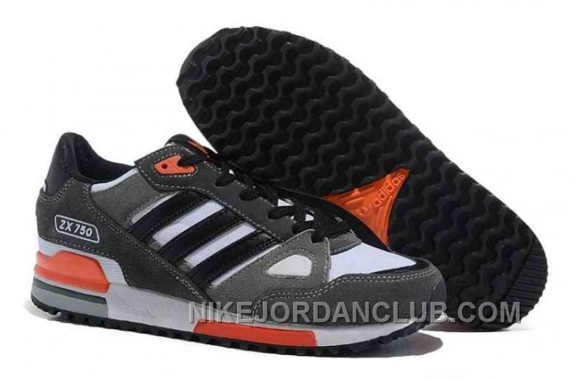 Fashion style -  Adidas Originals Zx750 Grey Black Orange Shoes