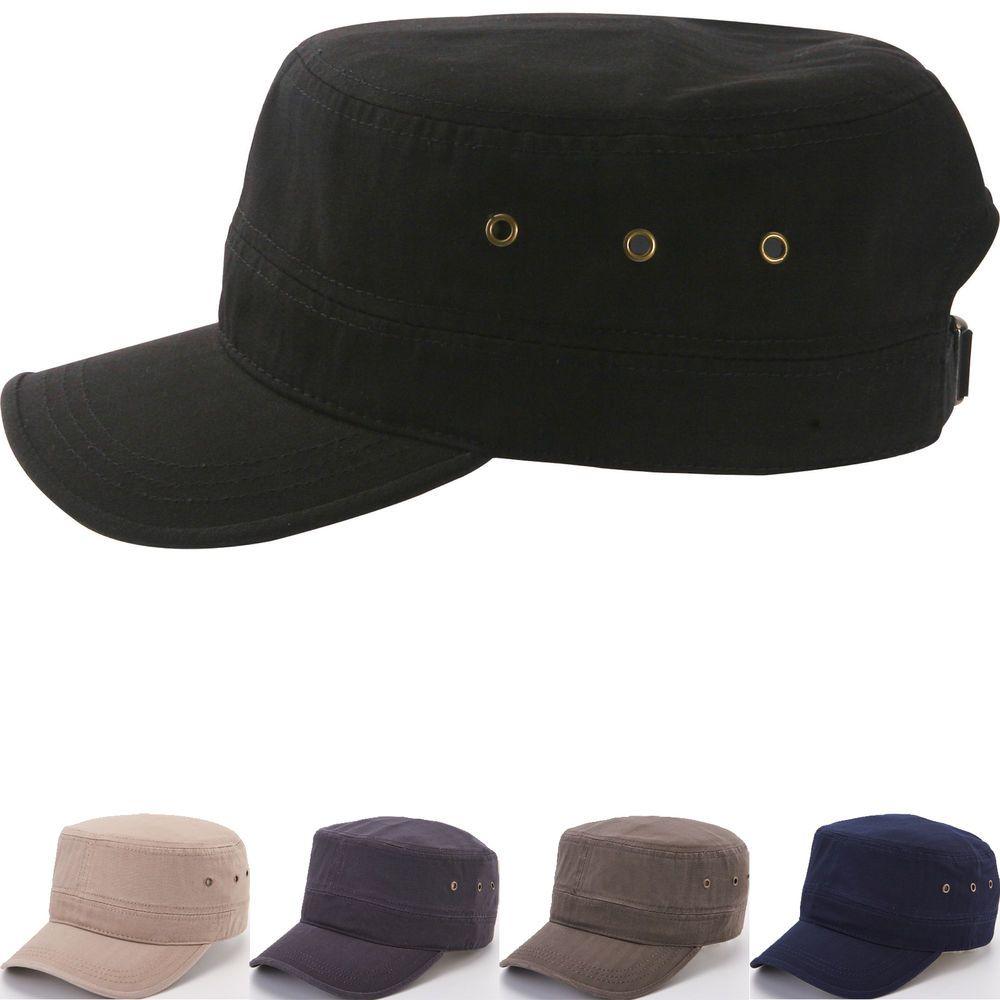 Classic Plain Vintage Army Military Cadet Patrol Castro Caps Hats Combat  Hunting  hellobincomJUNGIL  CadetPatrolCastroCapHats 135d0a348f44