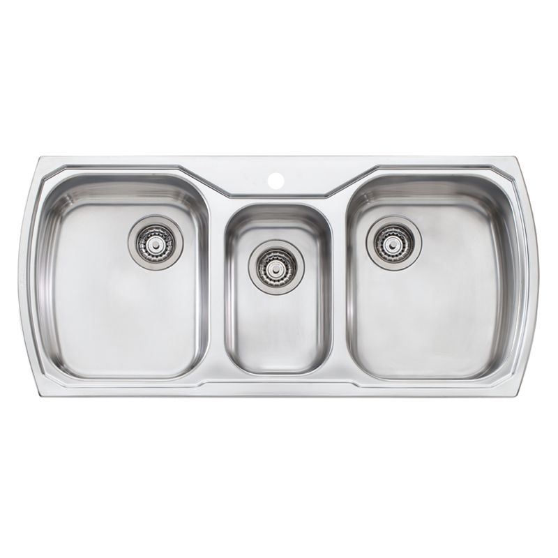 Oliveri Monet Triple Bowl Inset Sink Buy At Bunnings