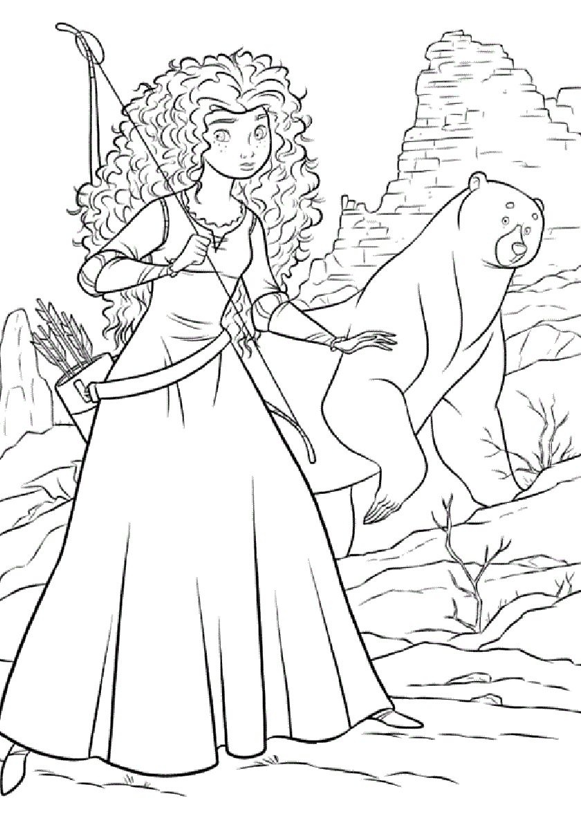 Beauty And The Bear On The Hunt High Quality Free Coloring From The Category Free Disney Coloring Pages Disney Princess Coloring Pages Cartoon Coloring Pages [ 1188 x 840 Pixel ]