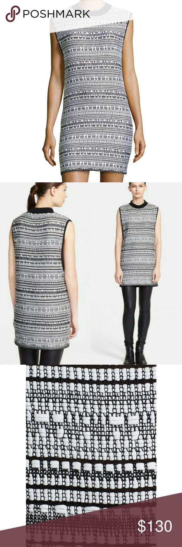 439307ea972 🎀NWT🎀 Helmut Lang Sleeveless Variant Print Dress BRAND🆕 Mock collar