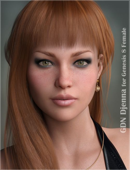 3D Model GDN Djenna for Genesis 8 Female Free Download
