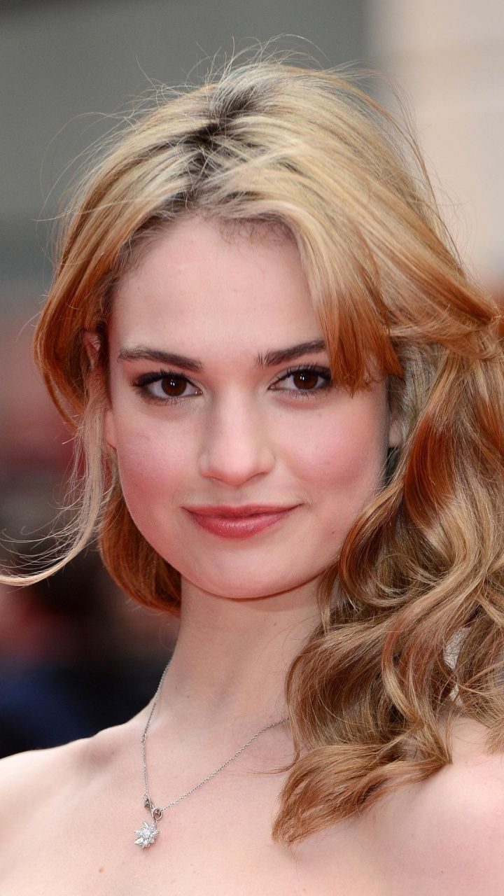 Beautiful Smile Blonde Lily James 720x1280 Wallpaper Actress Lily James Beauty Celebrity Wallpapers
