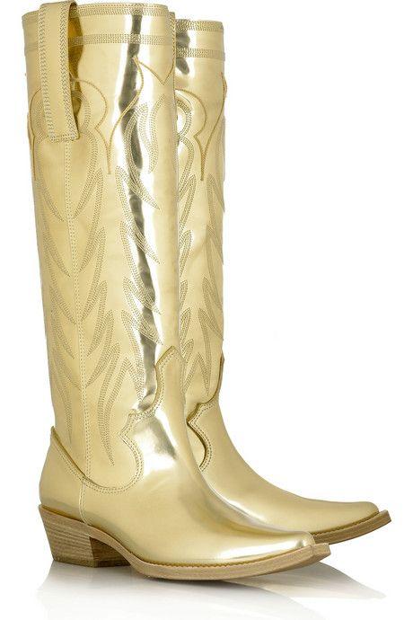 Cowboy Boots - Gold!! Gold Dress #2dayslook #jamesfaith712 ...