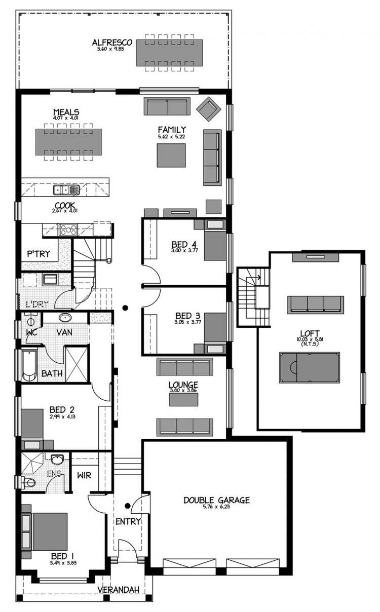 Rossdale Homes Dulwich Loft Floor Plan Loft Floor Plans Floor Plans Loft Design