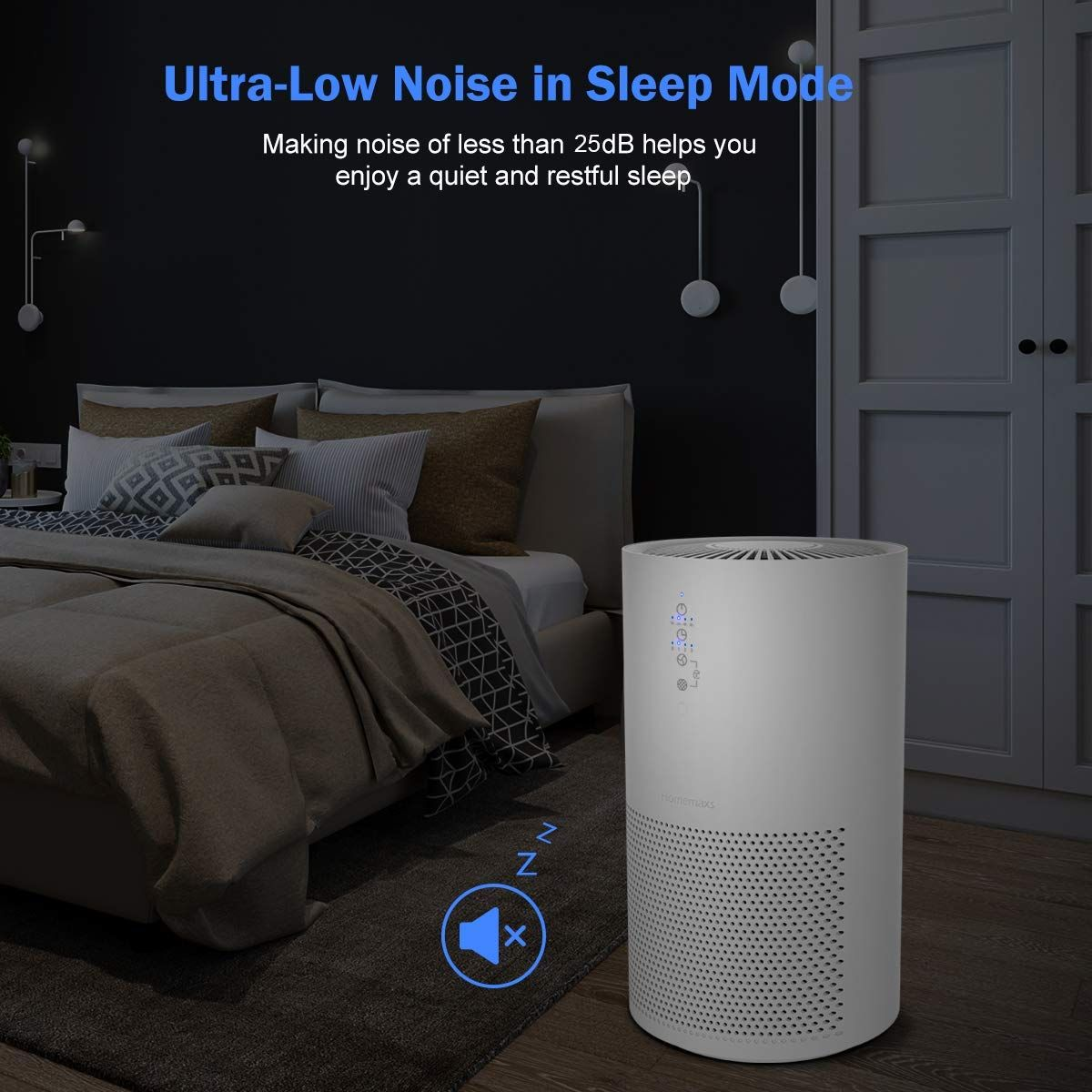 Amazon Com Homemaxs Air Purifier With Hepa Filtration Air Cleaner For Home Office Cleans Air Of Smoke Allergens Mo Air Purifier Hepa Air Quality Monitor